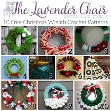 free wreath crochet patterns the lavender chair