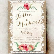burlap and lace wedding invitation divinegivedigital