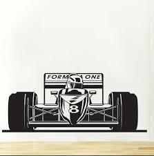 stickers voiture pour chambre garcon formule 1 une bolid sport voiture de course stickers muraux