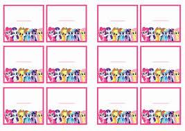 printable name tags my pony name tags birthday printable