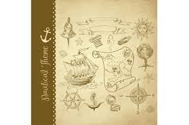 Treasure Map Clipart Nautical Clip Art Treasure Map Illustrations Creative Market