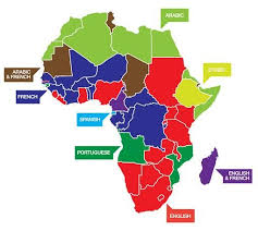 map in language official languages through africa maps language