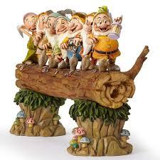 jim shore disney seven dwarfs on log department 56 corner