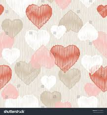 seamless vector background decorative hearts valentines stock