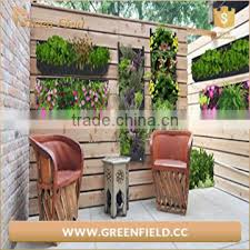 vertical wall garden planter recycled materials balcony plant grow