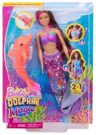 barbie dolphin magic transforming mermaid doll walmart