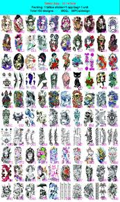 new product body art arm tattoo sticker temporary for men or
