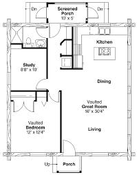 one bedroom cottage plans cabin plan one room log floor trends with outstanding 1 bedroom