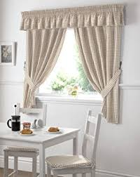 Images Of Curtain Pelmets Gingham Kitchen Curtains Beige Pelmet 136 X 10 Amazon Co Uk