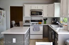 gray stained kitchen cabinets before and after painting kitchen cabinets before after