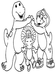 114 barney coloring pages images coloring