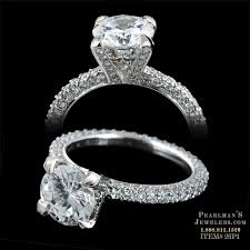 pave engagement rings images Michael b jewelry three sided princess pave engagement ring jpg