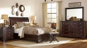 whitmore cherry 5 pc platform bedroom bedroom sets wood