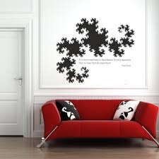 dragon curve and dirac vinyl wall decal