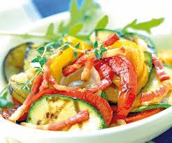 assiette de cuisine recette facile assiette de légumes grillés