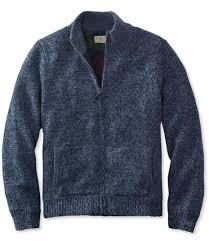 wool sweater l l bean ragg wool sweater zip flannel lined
