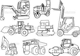 construction tools coloring pages free construction coloring pages buldozer back hoe and other