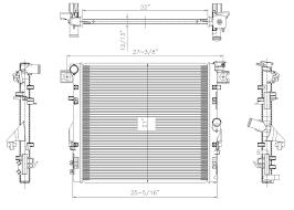 2007 Jeep Commander Engine Diagram Amazon Com Tyc 2957 Replacement Radiator For Jeep Wrangler