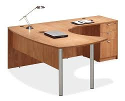 l shaped desk with hutch right return arc top l shaped desk honey right return by office source 1 800