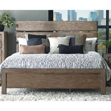 rustic contemporary light autumn queen size bed flatbush rc