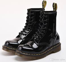 s boots waterproof s bright leather waterproof black half boots fashion