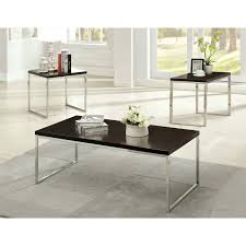united furniture 3 piece mixed media coffee table set barley