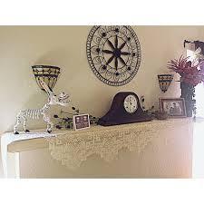 mantel scarf mantel scarf empress 20 x 96 ivory oxford house elegance of lace