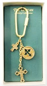 vatican library collection three cross key chain from the vatican library collection na