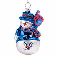 Okc Thunder Home Decor Oklahoma City Thunder Ornaments Buy Thunder Christmas Ornaments
