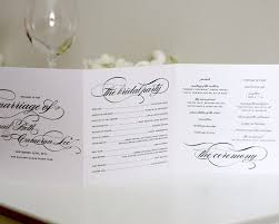 tri fold wedding program 58 best wedding order of service images on wedding