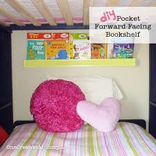 diy pocket front facing book shelves for kids onecreativemommy com