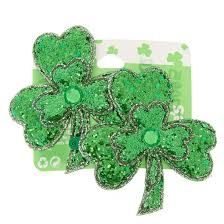 2 pack st patrick u0027s day shamrock snap hair clips claire u0027s us