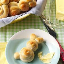 easter bunny rolls recipe taste of home