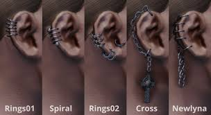 earring pierced pierced ears earrings at skyrim nexus mods and community