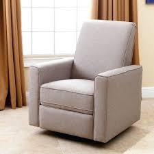 Dawson Swivel Glider Recliner Jackson Grey And Cream Fabric Nursery Swivel Glider Recliner Chair