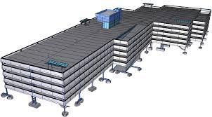 affordable efficient parking solutions what we ve done jet blue airways hybrid parking garage design build parking structure