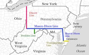 Map Of Ohio And Pennsylvania by Mason Dixon Line Western Crossings