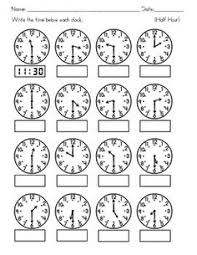 telling time half hour telling time practice reading clocks telling time worksheets
