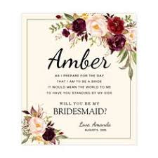 will you be my bridesmaid wine labels will you be my bridesmaid wine labels watercolor floral custom