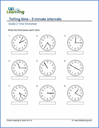 second grade time worksheets by the end of the class students will be able to tell time at 5