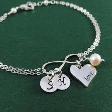 otis b jewelry charm initial bracelet