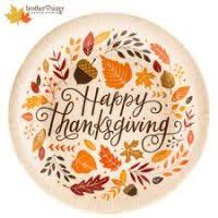 thanksgiving paper tableware divascuisine