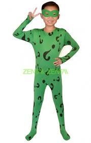 Riddler Halloween Costume Riddler Green Kids Catsuit