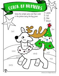 free printable reindeer activities reindeer math addition coloring worksheet woo jr kids activities
