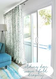 Draperies Window Treatments Smith And Noble U0027s Wave Fold Drapery System For Sliding Glass Doors