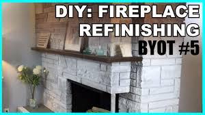 byot 5 diy fireplace refinishing youtube