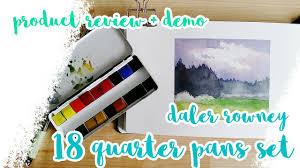 review u0026 demo daler rowney watercolor set of 18 pans youtube