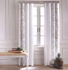 Curtain Drapes Tommy Hilfiger Border Floral Paisley Scroll Window Curtains Drapes