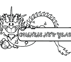 chinese dragon coloring pages easy year of the dragon colouring page year of the dragon colouring page