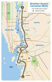 New York City Area Map by Brooklyn Queens Connector Bqx Nycedc